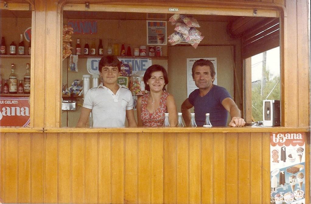 1977, da sinistra: Flavio, Maria Grazia e Luigi